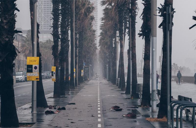 Borrasca provoca inundacion